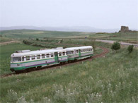 Trains in the South Sardinia West Coast. Between Cagliari and Iglesias, Sulcis